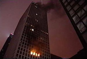 Wind was a factor in this high-rise fire that the Chicago Fire Department responded to several years ago. Photo courtesy Keith Witt