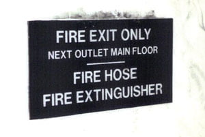 Many older buildings have mechanically locked stair doors. Evacuees must have an escape option from the attack stair.