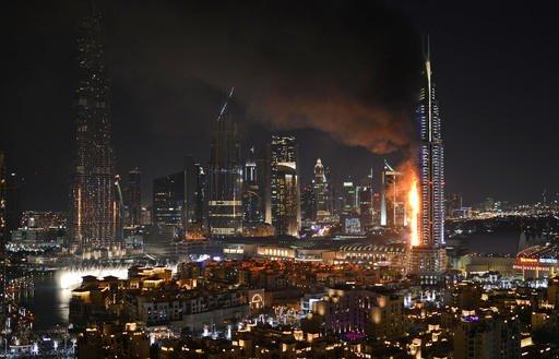 Mideast Emirates Dubai Skyscraper Fires