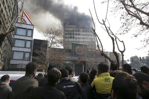 APTOPIX Iran Fire
