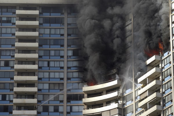 Honolulu Apartment Fire-Sprinklers